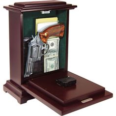 Hidden Gun Storage Ideas | Gun Storage http://www.kotulas.com/deals/mantel-clock-with-hidden-gun ...