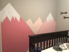 Our Mountain Girl nursery Wall Mural