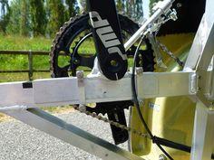 adjustable bracket on WAW 291 velomobile