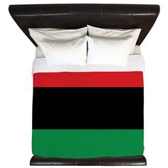 The Red, Black and Green Flag King Duvet on CafePress.com