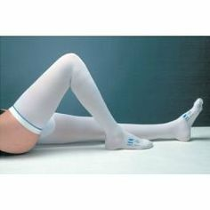 979f0329db3c3b White Thigh Length T.E.D. Anti-Embolism Stocking with Inspection Toe -  White - Small/
