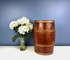 Vintage Whiskey / Beer Barrel Metal Bands Gold Dark by CurioBoxx