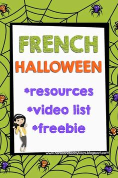 Here's an idea: French Interactive Halloween activities, a selection of French Halloween videos and a freebie! High School French, French Kids, French Games For Kids, Theme Halloween, Halloween Activities, Holiday Activities, Language Activities, Teaching Activities, Teaching Ideas