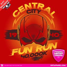 Central City Fun Run T-Shirt - Flash T-Shirt is $11 today at Ript!