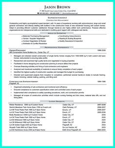 Construction superintendent resume can be in simple design but it still looks like a professional. In the resume, you will include your skills as cons... construction superintendent resume samples and commercial construction superintendent resume