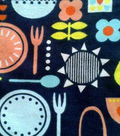 Snuggle Flannel Fabric- Retro Kitchen