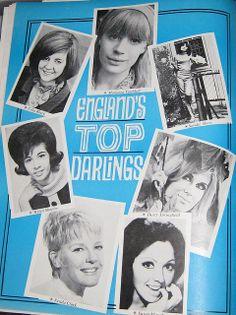 Teen Magazine June 1965 From top and going clockwise: Marianne Faithfull; Sandie Shaw, England Top, Cilla Black, Petula Clark, Dusty Springfield, Marianne Faithfull, British Invasion, Ol Days, Female Singers