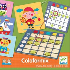Now that your little one has mastered their colours and shapes, it's time to throw in some observational and cross-referencing skills to the mix! Learning Games, Kids Learning, Lateral Thinking, Logic Games, Gaming, Montessori Baby, Games To Buy, Interactive Activities, Picture Cards
