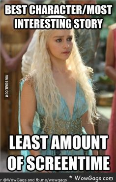 This….. is so true!!! More Dany screen time please!! She's the true heir ;)