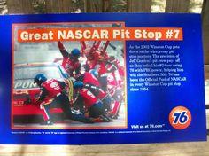 Nascar Vinyl 76 Gas Station Sign   FREE SHIPPING!!