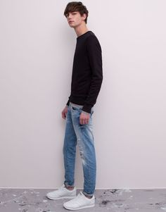 Pull&Bear - man - jeans - regular fit jeans - sky blue - 09685548-V2015