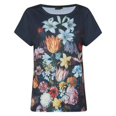 £19.95 - A Still Life of Flowers Women Batwing's T-shirt. Inspired by #Bosschaert's famous painting A Still Life of Flowers in a Wan-Li Vase, this unique T-shirt features batwing sleeves and an all over print.  A beautiful addition to any wardrobe. #DutchFlowers