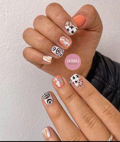 Gel Polish Designs, Cute Nail Art Designs, Abstract Nail Art, Simple Acrylic Nails, Nail Tech, Toe Nails, Beauty Nails, Summer Nails, Pretty Nails