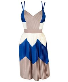 Limited Colour Block Pleated Dress from New Look. Perfect for a wedding guest.