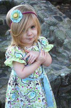 bohemian peasant dress..isn't she cute