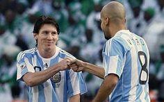 Messi and Veron, Argentina