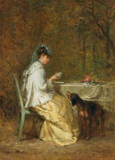 Tea in the Garden by Peter Philipp Rumpf, 1871