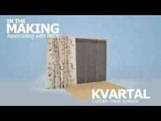 KVARTAL Curtain Track System Instruction Video - IKEA _ This should work to hang curtains that will slide easily to cover ikea stolman wardrobe system