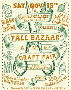 cool craft show flyers - Google Search