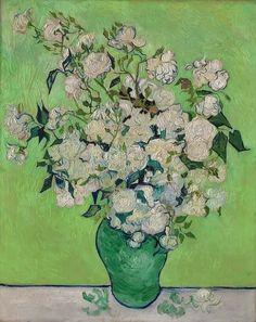"Vincent Van Gogh: ""Irises"" and ""Roses"" - http://www.arteeblog.com/2015/05/vincent-van-gogh-irises-and-roses-com.html"