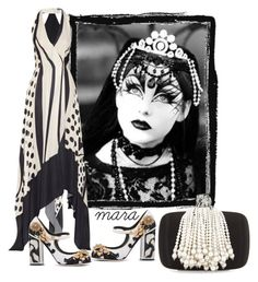 """""""The Lady love Pearls... :-)"""" by marastyle ❤ liked on Polyvore featuring Donna Karan, Roger Vivier and Dolce&Gabbana"""