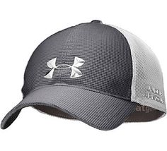 Men's Under Armour Golf Spacer Mesh Stretch Fit Cap Men's Hats, Mens Golf Fashion, Perfect Golf, Fitted Caps, Outfits With Hats, Sport Man, Golf Outfit, Under Armour Men, Cowboy Hats