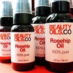 Natural beauty lovers rejoice! We just bottled a new batch of BEAUTYOILS.CO Rosehip Seed Oil! #rosehipoil #rosamosqueta #rosehipseedoil