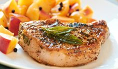 Dijon & Sage Marinated Pork Chops -- via Spoons Bistro & Bakery