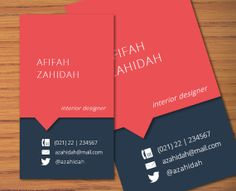 DIY Microsoft Word Business Name Card Template  Afifah by INKPOWER, $12.00