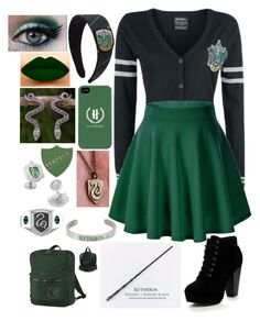 Designer Clothes, Shoes & Bags for Women Harry Potter Dress, Slytherin Harry Potter, Harry Potter Style, Harry Potter Outfits, Harry Potter Merchandise, Slytherin House, Teen Fashion Outfits, Mode Outfits, Outfits For Teens