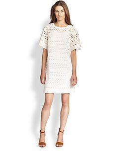 See by Chloe Eyelet T-Shirt Dress