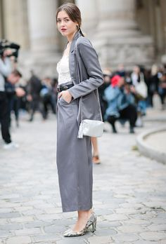 50 Cool Pantsuits to Copy from Street-Style Stars | StyleCaster