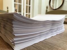 It's done! I'm thrilled to tell you that the new book is finished and will be published in September/October 2018. It's another big one, as you can see from the rather large stack of pages on my kitchen table, and spans a number of periods between