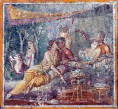 Scène de banquet, Pompéi Naples, MANN © Luigi Spina. Soprintendanza Speciale per i Beni Archeologici di Napoli e Pompei.