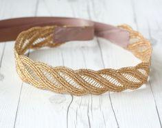 Gorgeous GOLD sash Bridesmaid Gift Sash Elegant metallic lace wave pattern Sash head tie bridal belt bridal shower bridesmaid gift