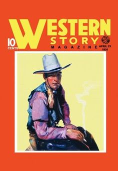 Western Story Magazine: Western Style 28x42 Giclee on Canvas