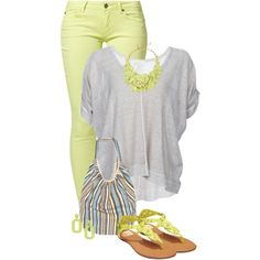 """Pastel jeans"" by mommygerloff on Polyvore"
