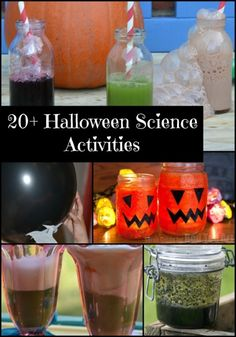 Easy science experiments for Halloween Theme Halloween, Halloween Science, Halloween Activities For Kids, Science Activities For Kids, Cool Science Experiments, Preschool Science, Science Projects, Halloween Kids, Halloween Crafts
