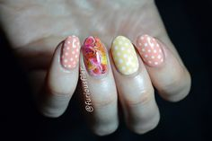 Edible mani featuring gorgeous  @rimmellondonuk Rita Ora Peachella NYC Melon Milkshake On my accent finger I'm wearing water decals from bornprettystore.com, for 10% OFF at checkout use my code SXL91