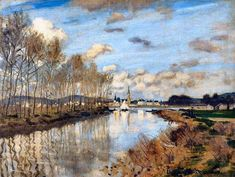"ART FOR YOUR MORNING Claude Monet ""Argenteuil, Seen from the Small Arm of the Seine, 1872"""