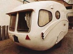 A Willerby Vogue, coming out of 1950s UK and so rare that only 5 of them seem to exist today.