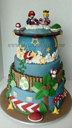 Mario Kart Groom's Cake