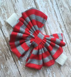 A personal favorite from my Etsy shop https://www.etsy.com/listing/223367482/little-miss-scarlet-grey-bowband-messy