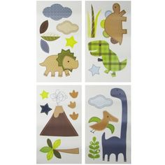 Jill McDonald Adorable Dino Wall Decals (Discontinued by Manufacturer)