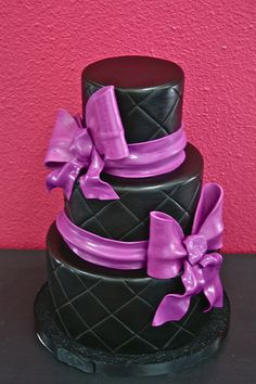 Purple & Black Cake