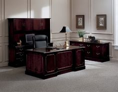 Traditional Executive Office Decorating Ideas | Traditional Office Furniture Trends