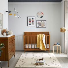 Shop west elm for modern baby cribs & convertible cribs that become toddler beds. Our Greenguard Certified collection marries clean lines with durable craftsmanship. Design Room, Design Studio, Nursery Design, Cafe Design, Design Design, Your Design, Baby Boy Rooms, Baby Cribs, Yellow Baby Rooms