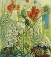 Pavel Tchelitchew , Children fighting among summer flowers (Childhood of Lenore) Summer Flowers, Surrealism, Childhood, Fantasy, Children, Painting, Artists, Art, Young Children