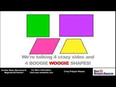 Crazy Polygon Shapes Sing-Along Read-Along Shape Songs, Math Songs, Polygon Shape, Music And Movement, Sixth Grade, Student Teaching, Math Skills, Elementary Math, Mathematics
