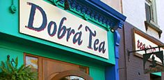 Burlington, VT - Dobra Tea Room. This Bohemian tea room serves over 90 custom imported varieties of fresh loose leaf tea. Featuring handmade teapots from all over the world (as well as accessories), along with eclectic light fare and locally made sweets and pastries.